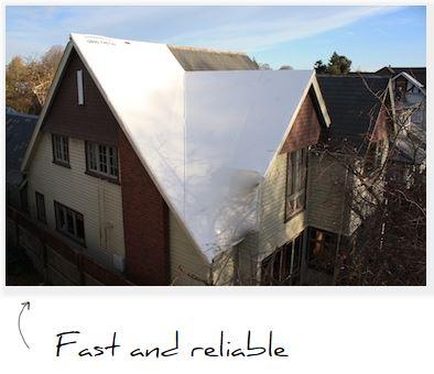 roof shrinkwrap