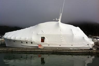 boat shrink wrap system