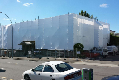 shrink wrap scaffolding buildings
